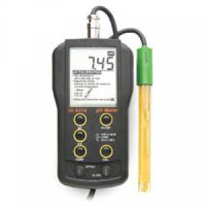 อุปกรณ์วัด pH (portable pH meter with mV reading  temperature with a single probe)