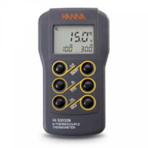 HI 93532N Dual-input, K-Type Thermocouple Thermometer